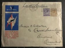 1931 London England First Flight Cover to Brisbane Australia Imperial Airway Ffc