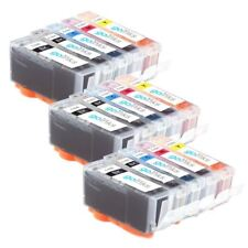 15 Ink Cartridges (Set) to replace Canon PGI-520 & CLI-521 Compatible for PIXMA
