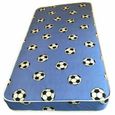 Childrens 3ft Single Blue Football Print Mattress Budget Value Springs