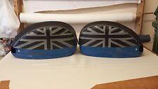 Vespa PX/T5/LML Pair of Side Panel Covers Union Jack Black & Grey