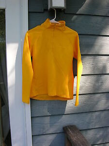 CRAFT L/S Yellow 1/2 Zip Women's Medium Top~ Size 38~ NM! ~ Cycling Running etc.