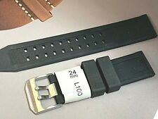 24MM SPORTS RUBBER WATCH BAND QUALITY CONSTRUCTION FIT LUMINOX