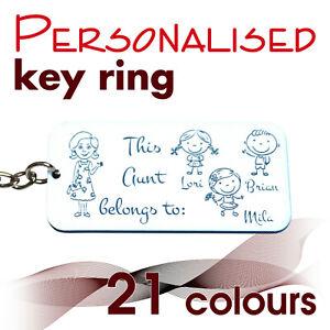Personalised Keyring *This mummy daddy granda belongs to...* gift bag