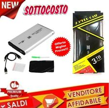 CASE BOX Esterno di 2,5 Hard Disk IN ALLUMINIO HD USB Drive HDD SATA 3TB per PC
