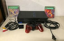 SONY PS2 PLAYSTATION SCPH-50001 CONSOLE CABLES CONTROLLER MEMORY CARD 2 GAMES