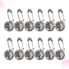 12PCS Rust Resistant Double Hooks Glide Shower Ring Hangs for Both Shower Curtai
