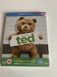 Ted (2012) Blu Ray Steelbook NEW & SEALED Rarer Extended Version Mark Wahlberg