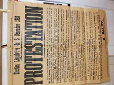 VILLEREAL ELECTION LEGISLATIVE 1920 LOT ET GARONNE PROTESTATION MR PABON BALET