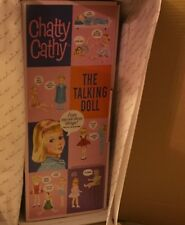 Chatty Cathy Doll Porcelain Repro Pink Dress/White Pinafore Danbury/Mattel NRFB