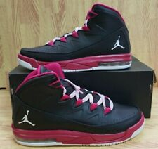 Girls Jordan Air Deluxe 807714-009 Black/White NEW Size 9Y