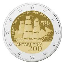 Pièce commemorative 2 euros Estonie 2020 célébrant les 200 ans de l'Antarctique