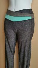 LULULEMON 2 XS Astro Groove Pant Heathered Gray Turquoise Yoga Running EUC