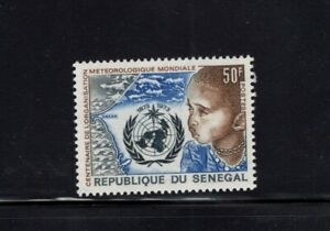 Senegal 1973 WMO Meteorological Emblem Map African Child Sc 394 MNH