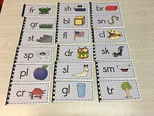 The Blue Series - 18 Beginning Consonant Blends Booklets - Montessori