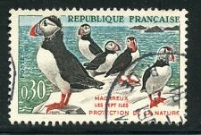 STAMP / TIMBRE FRANCE OBLITERE N° 1274 OISEAUX - LES MACAREUX-MOINES