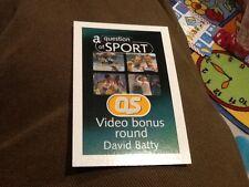 David Batty / Football / Leeds United / A Question of Sport game card 1999