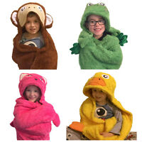 Glow Time Snuggle Wrap Childrens Animal Wrap Throw Blanket Bed and Bath Time