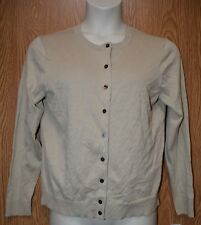 Womens Almond Khaki Karen Scott Button Front Sweater Size PXL NWT NEW