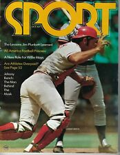 1972 Sport magazine baseball Johnny Bench, Cincinnati Reds Jim Plunkett Mays GNL