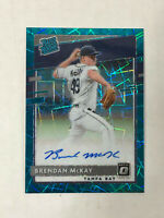 BRENDAN McKAY 2020 Optic TEAL VELOCITY SSP BLUE INK AUTO RC 20/35! RAYS! INVEST!