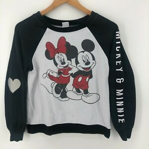 Disney Sweatshirt Youth Unisex Kids S White Mickey And Minnie Mouse