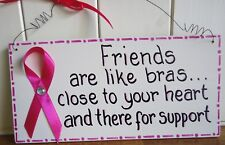 SHABBY CHIC PLAQUE FRIENDS ARE LIKE BRAS FRIEND AUNTY MUM SISTER CHRISTMAS GIFT