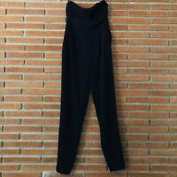 Bebe Womens Sweetheart Strapless Jumpsuit Romper One Piece Black Size 4