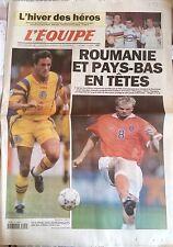 L'Equipe Journal 2/12/1997; Roumanie et Pays bas tête de série Fifa/ Brochard