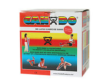 CanDo Latex Free Exercise Band-25 yard roll-Red-light-1363361 10-5632 NEW