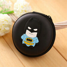 BATMAN BLACK EARPHONE CASE PURSE COIN HOLDER HEARING AID UK SELLER!!