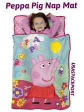 PEPPA PIG Sleeping NAP MAT Toddler Daycare Preschool Car BLANKET +PILLOW Bed Set