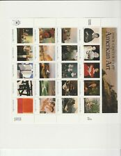 stamps Four Centuries of American Art pane 20x32