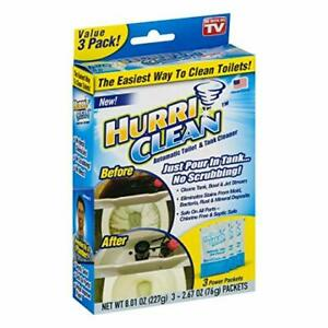 Hurriclean Deluxe 3-Pack New & Improved Automatic No-Scrub Toilet Tank Cleaner