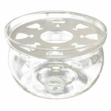 Heat-Resisting Teapot Warmer Base Clear Glass Round Shape Insulation Tealig K6X8