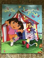 2003 Dora the Explorer & Boots Carnival Wooden Puzzle 8 pc. - Mattel- complete