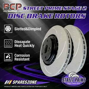 Rear BCP Slotted Disc Brake Rotors for Bentley Continental GT 6.0L 12Cyl 06 - 11