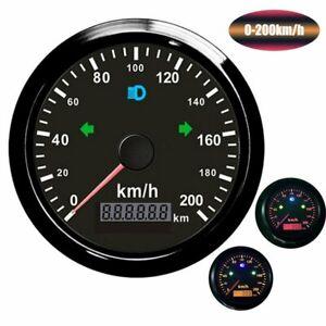 GPS Tachometer Tacho Geschwindigkeitsmesser Digital für Motorrad Boot Yacht 85MM