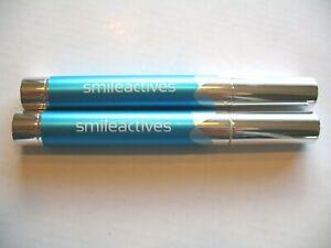 TWO Smileactives Advanced Teeth Whitening Pens Vanilla Mint  NEW