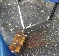 IMPERIAL TOPAZ NECKLACE! Golden Glow Gem Crystal Pendant Handmade 925 Gemstone