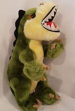 "Dinosaur Plush Stuffed Animal Toy Teeth Green Yellow 12"" Goffa International"