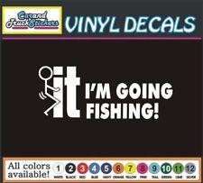 F*CK-IT I'M GOING FISHING VINYL DECAL STICKER SCREW IT CAR BOAT WINDOW HUNT