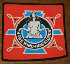 HAWKWIND HAWKLORDS ORIGINAL VINTAGE CIRCA 1980 WOVEN CLOTH SEWING SEW ON PATCH