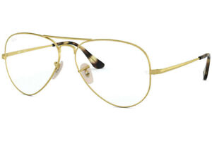 NEW Authentic Ray Ban RX 6489 3033 Aviator Gold Eyeglasses Frames 55-14-140
