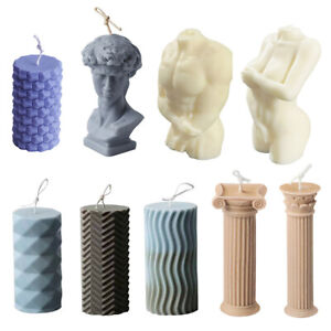 Candle Moulds Silicone Human Body Roman Column Candle Wax Making Soap Mold DIY