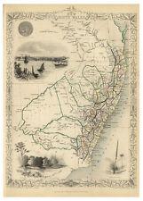 Sydney New South Wales Australia illustrated map John Tallis ca.1851