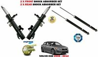 FOR VOLVO C30 2006-2012 NEW 2X FRONT + 2X REAR SHOCK ABSORBERS SHOCKER SET