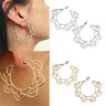 Fashion Boho Jewelry Beach Holiday Gypsy Tribal Ethnic Hollow Hoop Earrings Gift