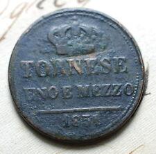 1854 REGNO Delle DUE SICILIE   Ferdinando  II  Uno e Mezzo    Tornese  Uno  1/2