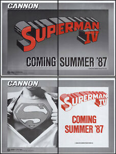 SUPERMAN IV__Original 1985 Trade print AD / 4pg Advert / poster__Quest for Peace