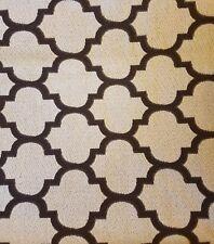 "Trellis Trefoil Brocade Upholstery Drapery Fabric Brown Beige 44"" x 57"" (1+ yds)"